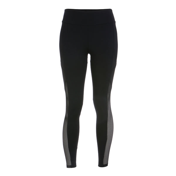 Grayson Mesh Panel Pocket Leggings - Black
