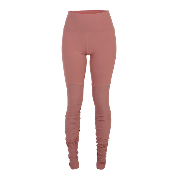 High-Waist Goddess Legging - Rosewater/Rosewater Heather