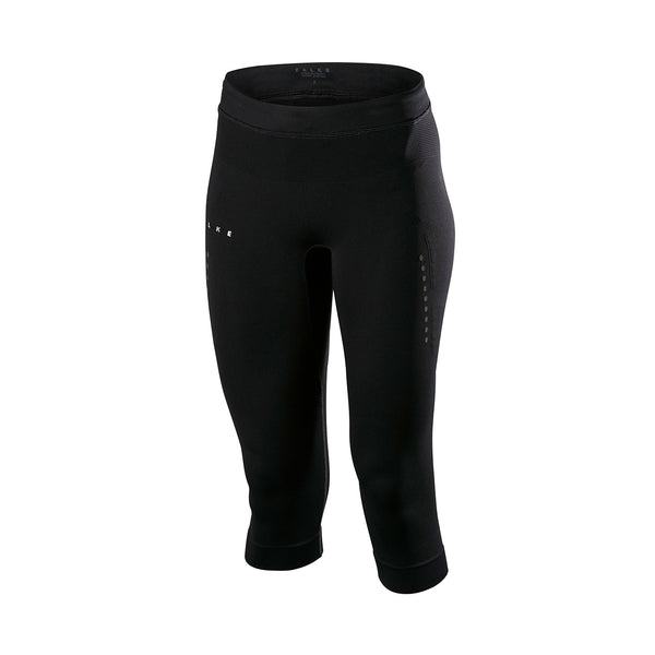 Falke | 3/4 Length Compression Leggings | Black | Running | Cropped Leggings | Compression | Activewear | Workout | Summer | Leggings | Performance