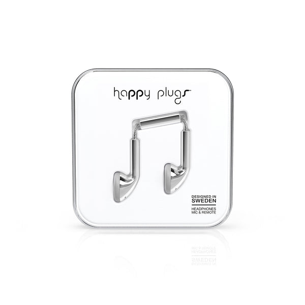 Happy Plugs Earbud - Silver