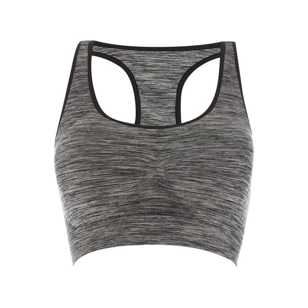 Seamless Compression Bra - Grey Space Dye