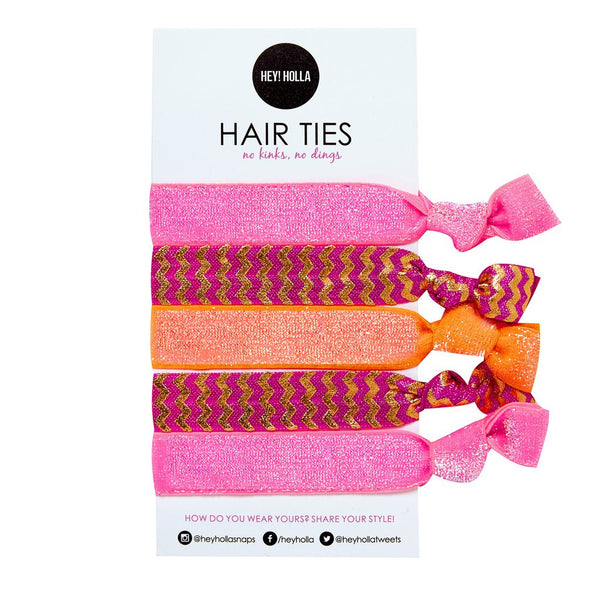 No Kinky Stuff! Hair Ties - Juicy