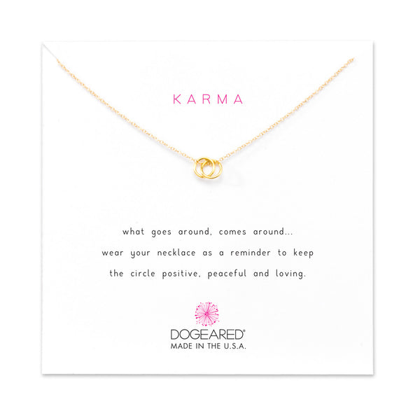 Karma Linked Ring Adjustable Necklace - Gold