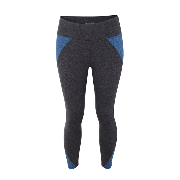 Lanston | Kason Colour Blocked Leggings | Grey | Atlantis | Sportswear | Celeb Favourite