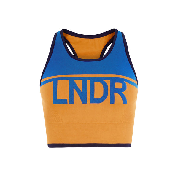 LNDR | A-Team Sports Bra | Blue mustard | Yoga | Run | Women's Sports bra