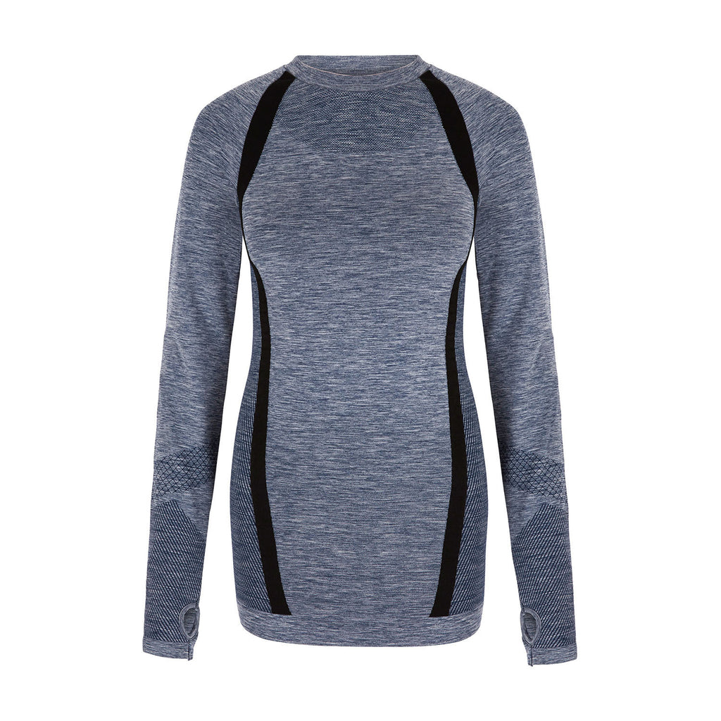 Breeze Long Sleeve Top - Blue Marl