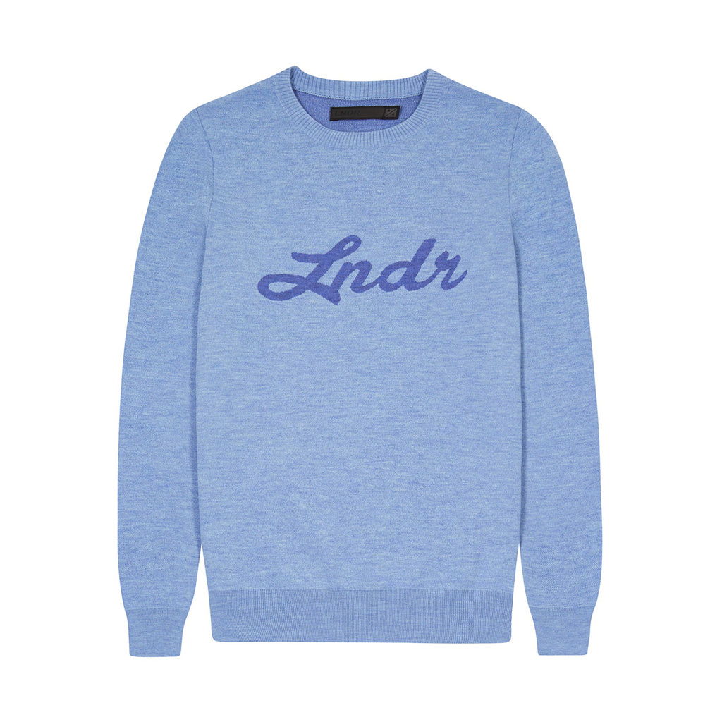 LNDR | Double Happiness Jumper | Light blue | womens activewear | off duty | Jumper