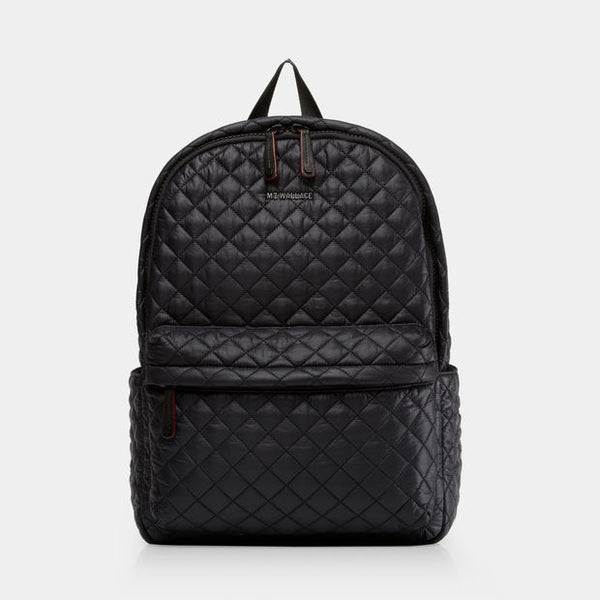 MZ Wallace | Metro Backpack | Black Oxford | Gym Bag | Quilted gym bag | Gym