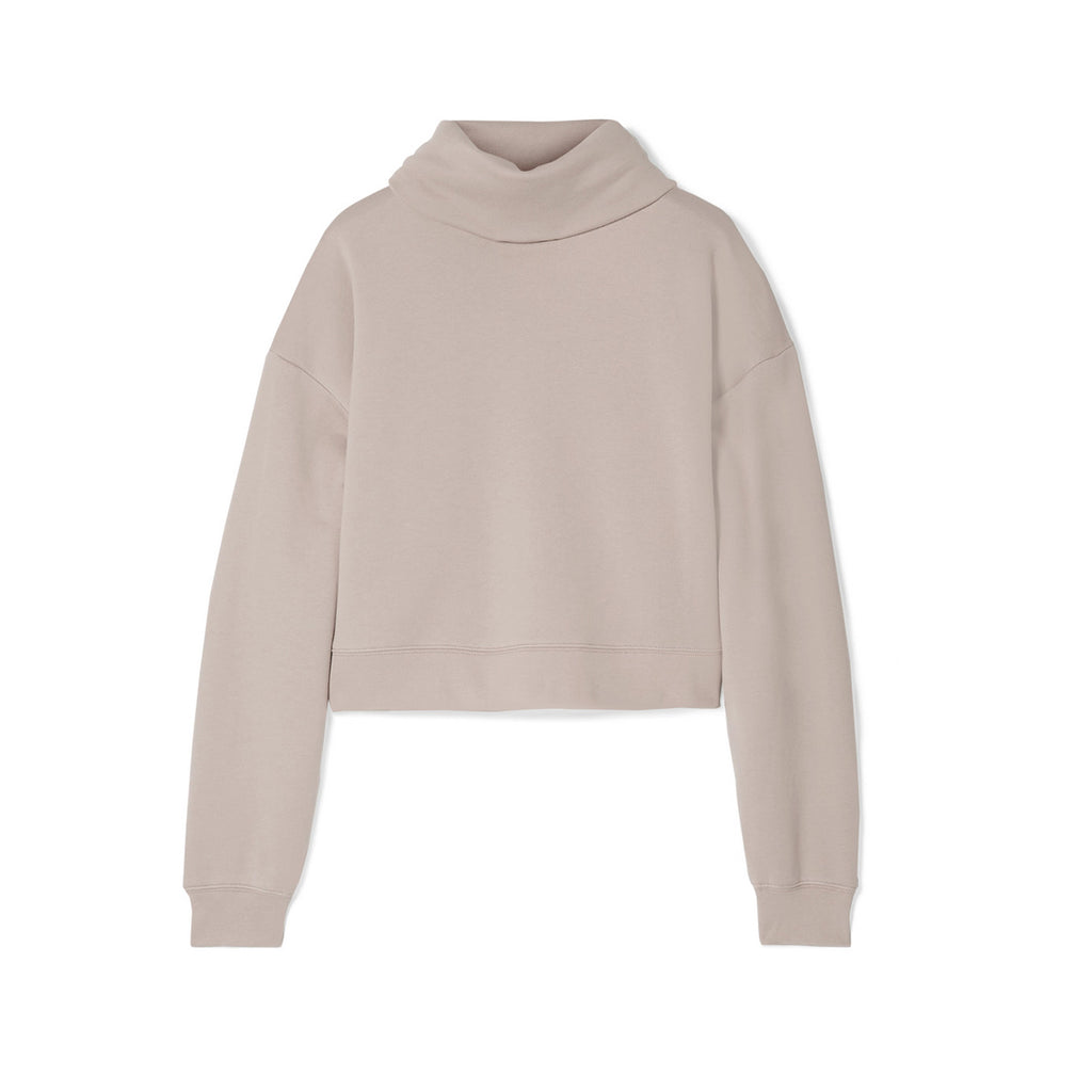NINETY PERCENT + NET SUSTAIN organic cotton-jersey turtleneck sweatshirt