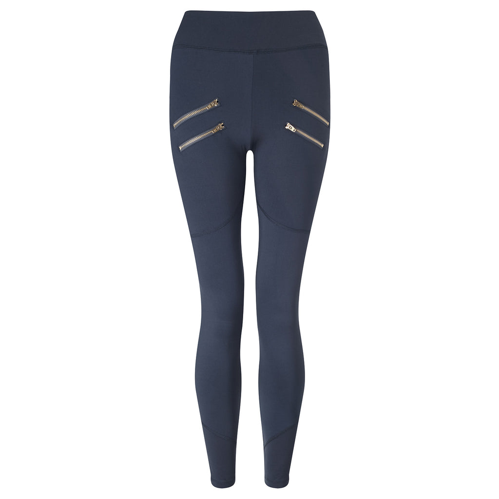 Navy Palms Leggings