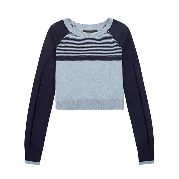 LNDR | Prism Jumper | Light Blue Marl | Sweatshirt | merino Wool | Loungewear | Leisurewear