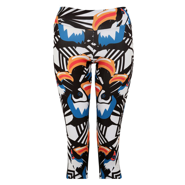 Toucan Paradise Crop Leggings