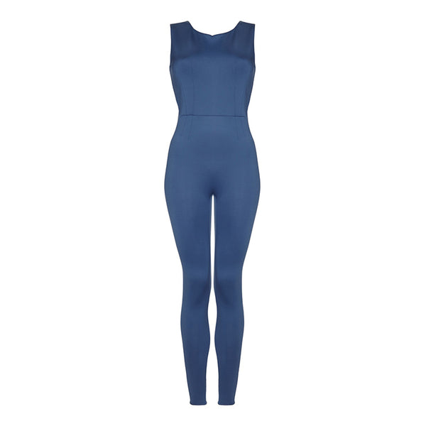 Silou | Tatiana Unitard | Denim Blue | Leotard | Yoga | Ballet | Pilates