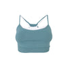 Caroline Seamless Bra | Blue Surf & White