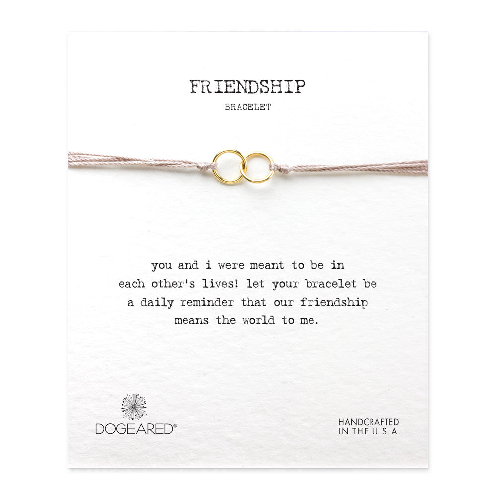 Friendship Double-Linked Rings Bracelet - Taupe