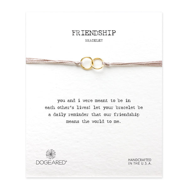 Dogeared | Friendship Double-Linked Rings Bracelet | Taupe | Jewellery | Yoga | Gift |