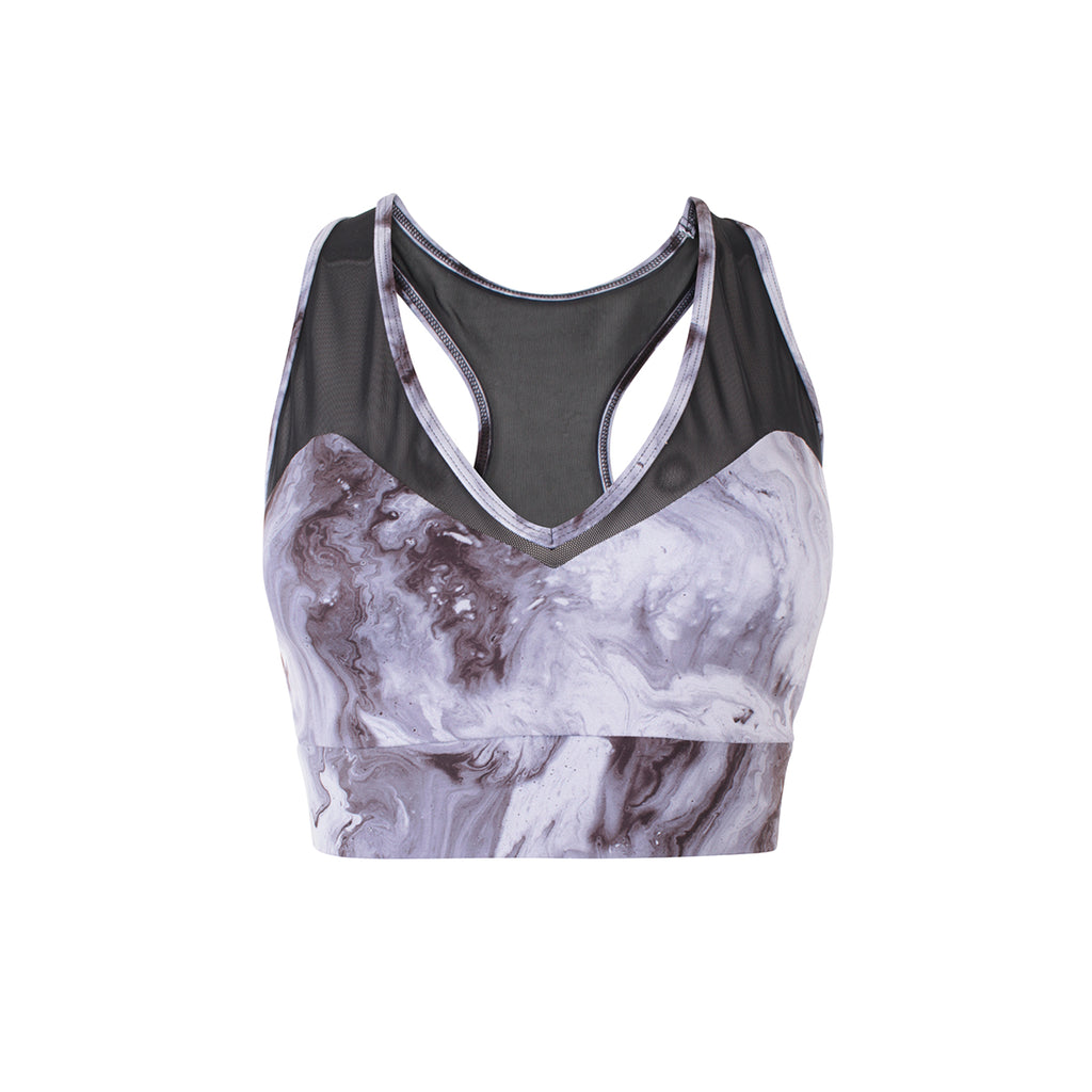 Varley | Runyon Bra | Royal Marble | run | activewear | blue | soft