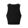 Technical Knit Stardust Crop - Black