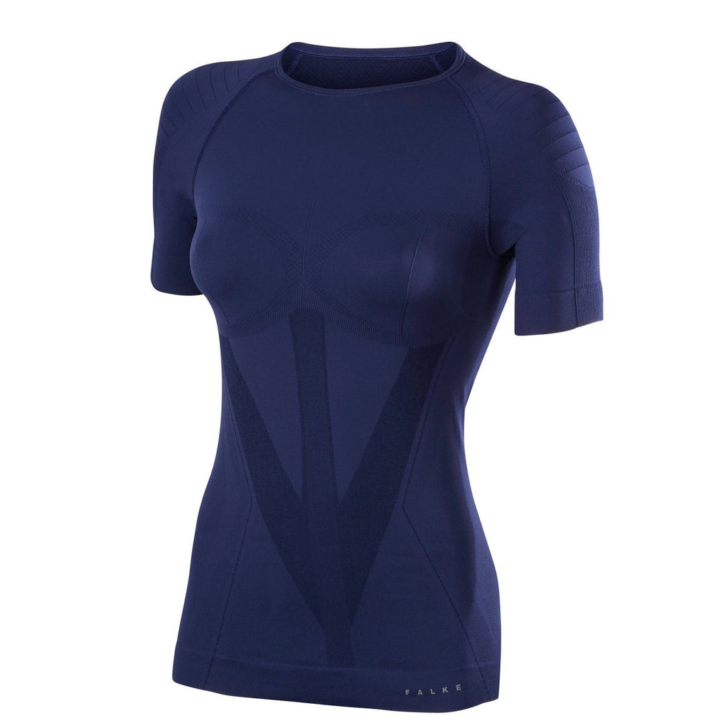 Falke | Women Short sleeved Shirt Warm | Dark Night | Activewear | Thermal | Running | Skiing | Layering