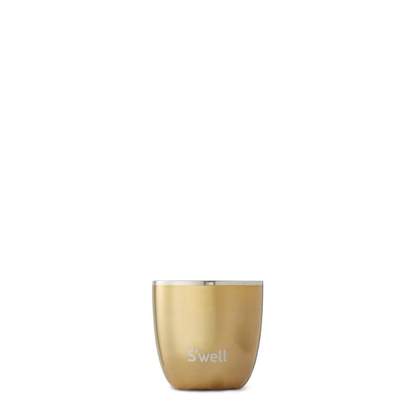 S'well | Yellow Gold Tumbler and Lid | 10oz | no plastic