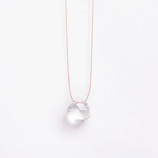 Fine Cord Necklace - Clear Quartz