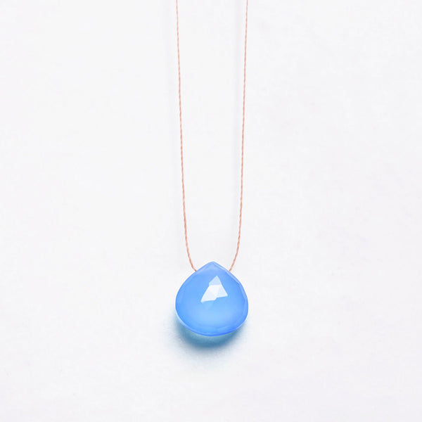 Fine Cord Necklace - Cornflower Blue