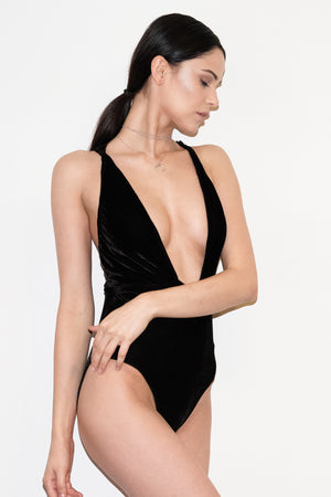 REVE DE VELOURS V-NECK BODYSUIT