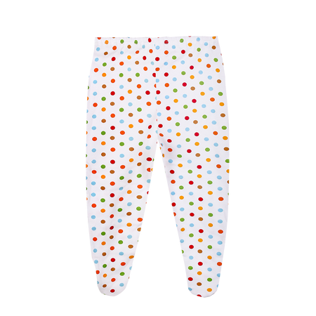 Pyjama Pant with Cover Feet in Polka Dot