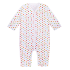 Jumpsuit with Reversible Mitten in Polka Dot