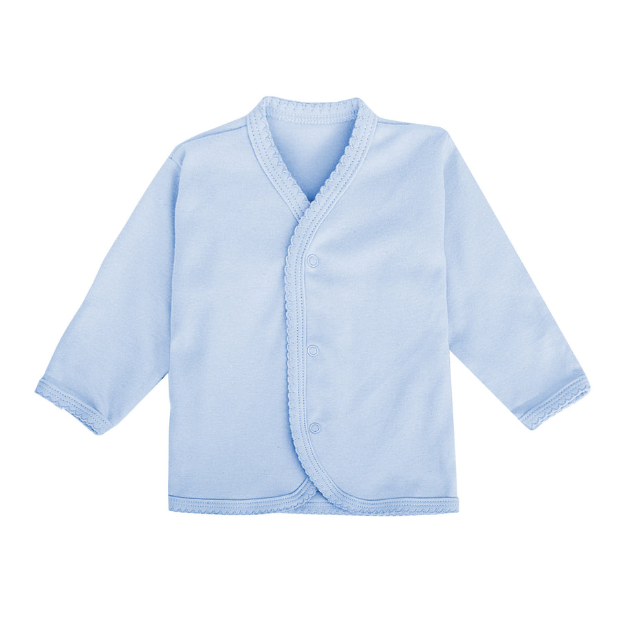 Snap Button Top Long Sleeve with Reversible Mitten Pastel Colour