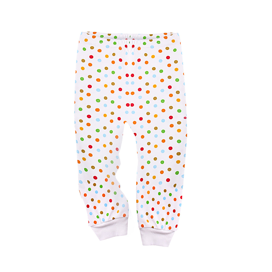 Long Pant with Open Feet in Polka Dot