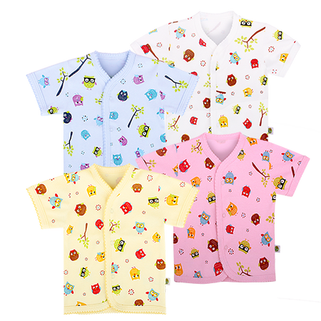 3pc Snap Button Top Short Sleeve for $30in assorted colour and design