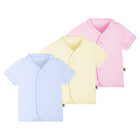 Snap Button Top Short Sleeve in Pastel Colour