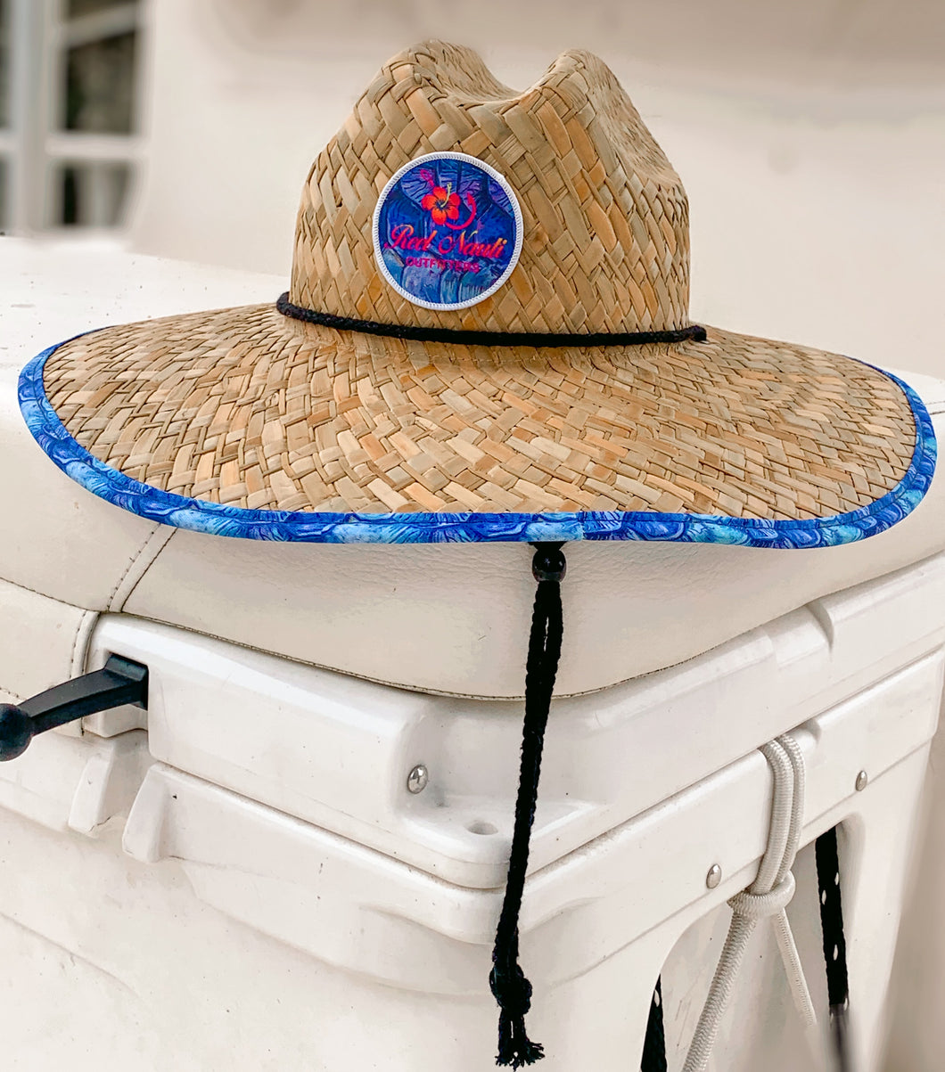 Tarpon Scales Fishing Brim Straw Hat
