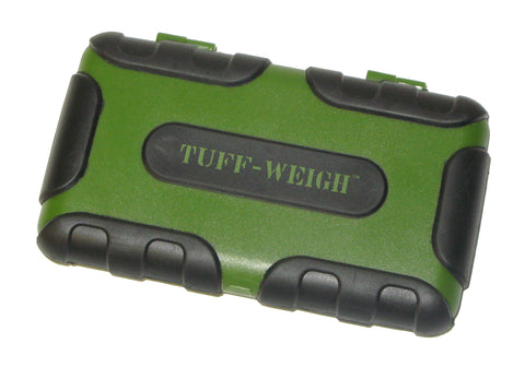 Tuff-Weigh (100g x 0.01g) Impact Resistant Scale with Rubber Grips - GREEN