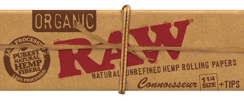 Raw Organic Connoisseur 1 1/4 Papers & Tips