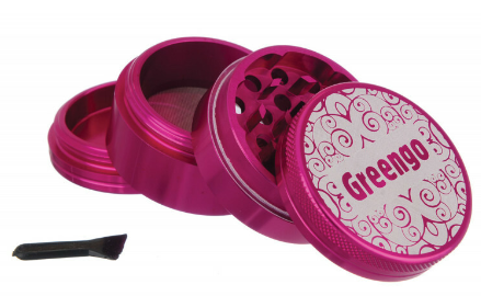 GREENGO Grinder 4 part 63mm Pink