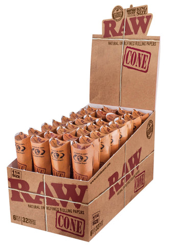 Raw Kingsize 3 x 1Pre Rolled Cones Unbleached