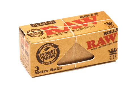 Raw Natural Unbleached 3m Rolls