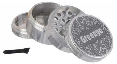 GREENGO Grinder 4 part 40mm Silver