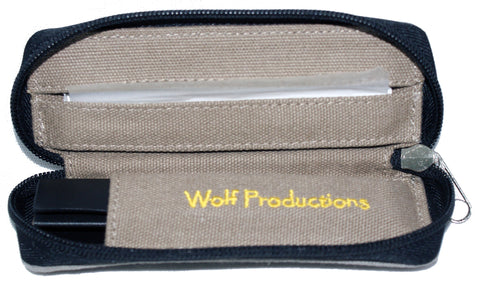 Wolf Small Hemp Rolling Kit GREY (14cm x 5cm x 2.5cm)