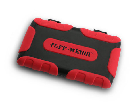 Tuff-Weigh (100g x 0.01g) Impact Resistant Scale with Rubber Grips - RED