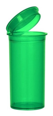 GREEN TRANSLUCENT Pop Top Bottle 19 Dram (3.5gms)