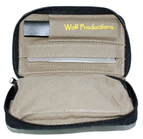 Wolf Medium Hemp Rolling Kit GREY (14cm x 9cm x 2.5cm)