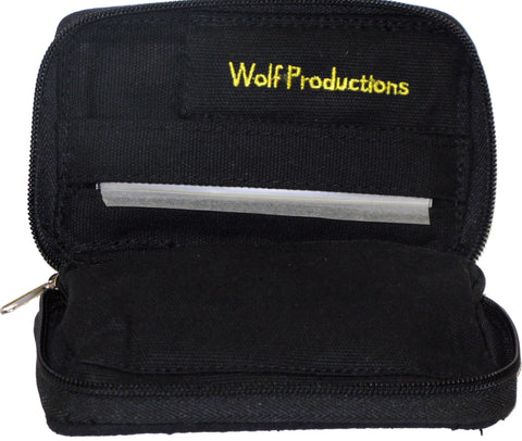 Wolf Medium Hemp Rolling Kit BLACK (14cm x 9cm x 2.5cm)