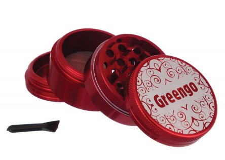 GREENGO Grinder 4 part 50mm Red