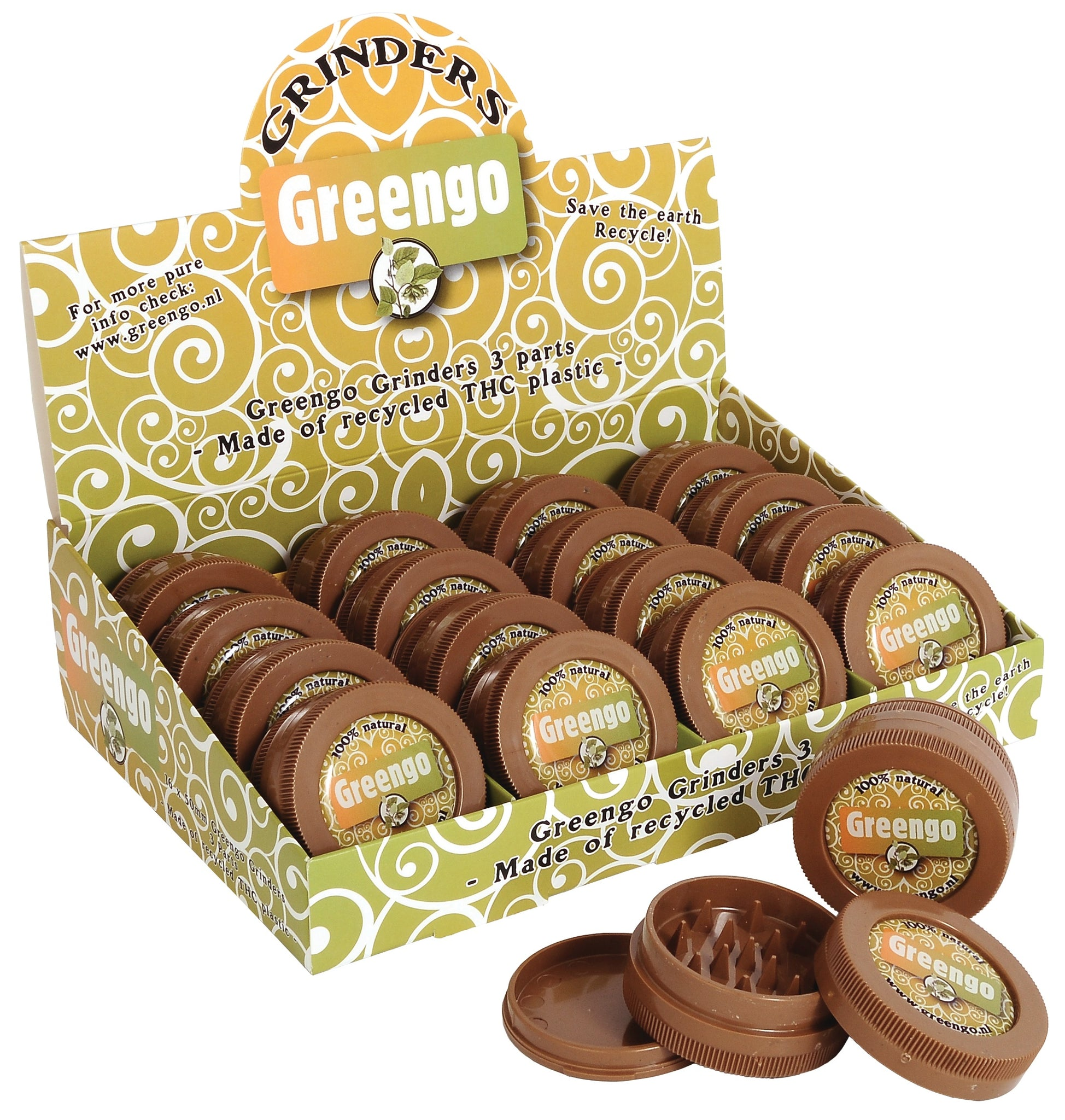 GREENGO Brown Grinders 50mm