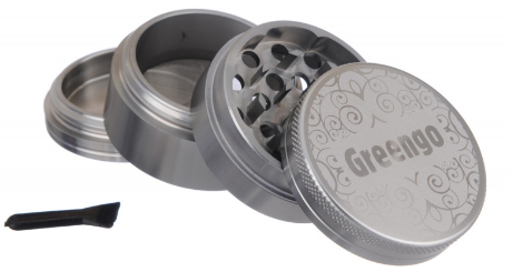 GREENGO Grinder 4 part 50mm Grey