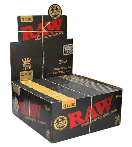Raw Black Kingsize Classic Rolling Papers