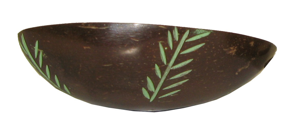 Coconut Mixing Bowl with Carving